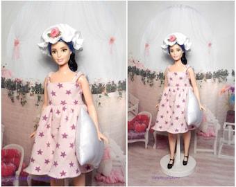 Nightgown for barbie curvy doll