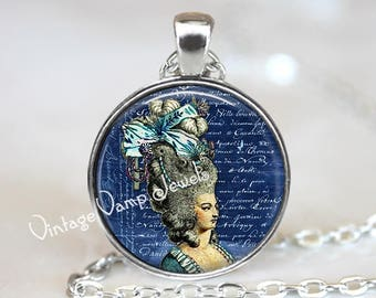 MARIE ANTOINETTE Necklace, Marie Antoinette Art Jewelry,French Jewelry