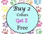 FREE SHIPPING - (Non-Martingale) Buy Two Collars - Get Two Collars Free - Choose Any Fabric in Shop