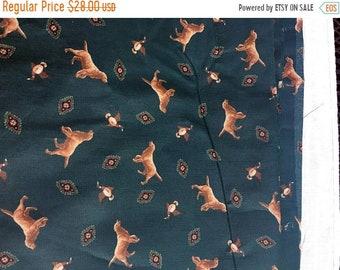 "Save 15% OFF Golden Retriever Cotton Fabric/Joan Messmore Fabric/Cranston Print Works/2.25 Yds x 44""/Dog & Ducks Fabric/New Unused Smoke Fre"