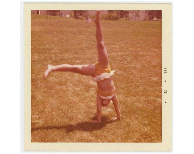 Vintage Snapshot Photo: Gymnast, 1974 (77591)