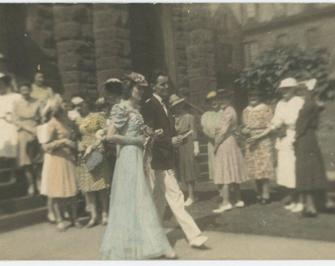 Vintage Hand -Tinted Snapshot Photo: Couple, c1930s (5x7) (712631)