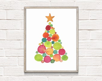 Christmas Tree Ornament// Holiday Christmas // Poster Print Wall Art Decor