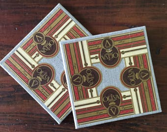 2017 Cigar Band Collage Coaster: Oliva Elegance (set of 2)