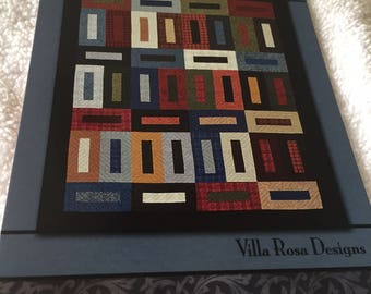 """Paper Pattern for a quilt called Blueberry Hill by Villa Rosa Designs 56"""" x 68"""""""
