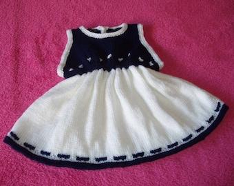 Navy baby dress