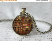SUMMER SALE Mini Book Necklace - Book Necklace - Book Pendant - Book Lover Gift - Literacy Gift - Mini Book Charm - Librarian Gift L40