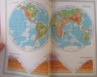 Atlas Handy Reference Of The World 1954 Hardcover