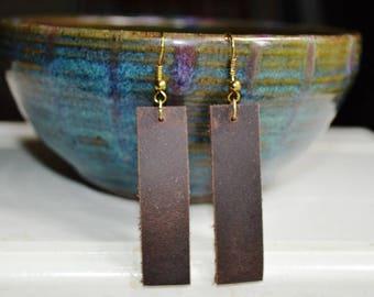 Leather Earrings/ Leather Dangle Earrings /Leather Drop Earrings /Boho Jewelry/Boho Chic/3rd Anniversary/Joanna Gaines-