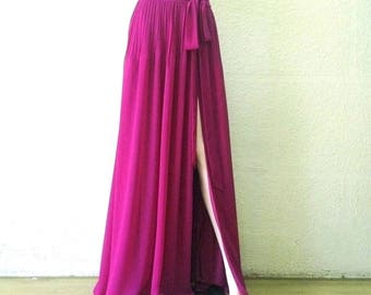 Light Purple Bridesmaid Skirt.Light Purple Maxi Skirt. Chiffon Floor Length Skirt.