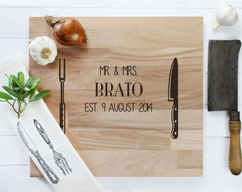 Personalized cutting board to the wedding
