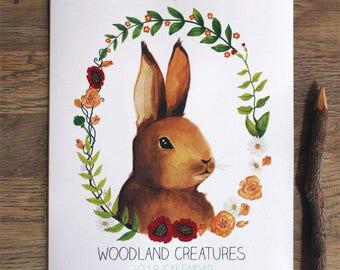 2018 Woodland Creatures Calendar