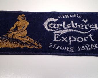 Vintage Carsberg Export Strong Lager Bar Towel