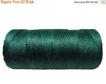 ON SALE Macrame Cord, Waxed Polyester, 15 meters/16 yards Dreamcatchers, Crafting Projects, Bracelet Cord - Dark Green Blue
