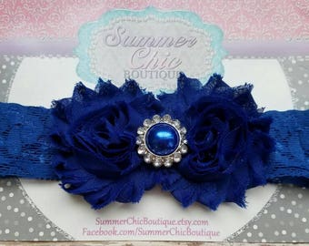 Baby Headband, Infant Headband, Newborn Headband, Royal Blue Baby Headband, Royal Blue Headband, Blue Headband