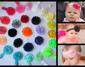 You Pick 4 Baby Headband Set, Shabby Chic Headband, Baby Headband, Infant Headband, Newborn Headband, Toddler Headband - Headband Set
