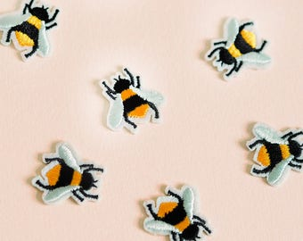 Bee Patch Iron On Bee Patch Bumblebee Patch Badge Sew On Iron On Insect Applique Honey Bee Patch Tiny Bumblebee Patch Iron On Bee Patch