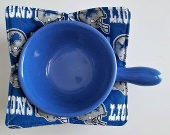 Bowl Cozy, Microwave Bowl Cozy, Detroit, Lions Bowl cozy, cookware, kitchen potholder, football