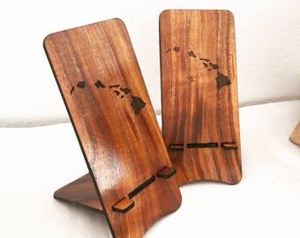 Hawaiian Koa Wood Smartphone Stand