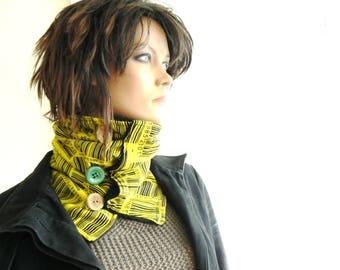 collar button, cotton fleece lining