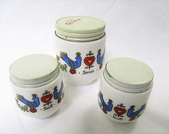 Gemco Country Festival salt shakers and server