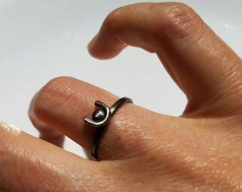 Sterling silver Hathor ring