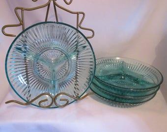 Vintage 4 Mid century serving plates / Vintage 4 flat of Mid century serving