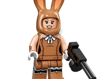 March Harriet Lego Batman Movie Minifigure Custom Lego Toy & Collectible, Brick Building Block Toy Set, DC Comics Harriet Pratt Escort Bunny