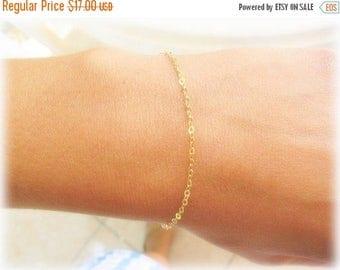 SALE - Thin Gold bracelet - Delicate Gold Bracelet - everyday bracelet - simplistic bracelet - dainty gold bracelet - Layer bracelet