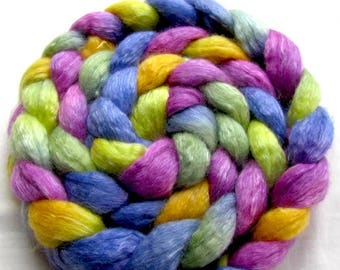 Merino/Tencel Spinning Fiber (Combed Top) 4 oz. Hand Painted