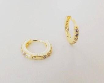 Small hoop earrings, hoop earrings, gold hoop earrings, gold hoops, hoops, small hoops, hoops gold, earrings hoop, cz gold hoops, hoops