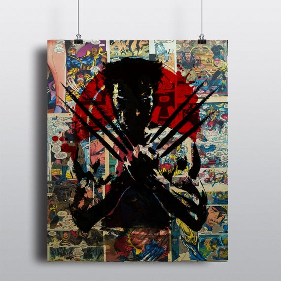 Wolverine Painting over Comics