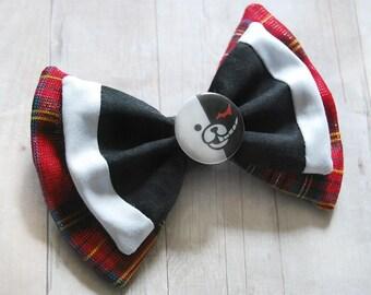 Junko Enoshima Bow // Monokuma, Danganronpa, Cosplay Bow, Costume Bow