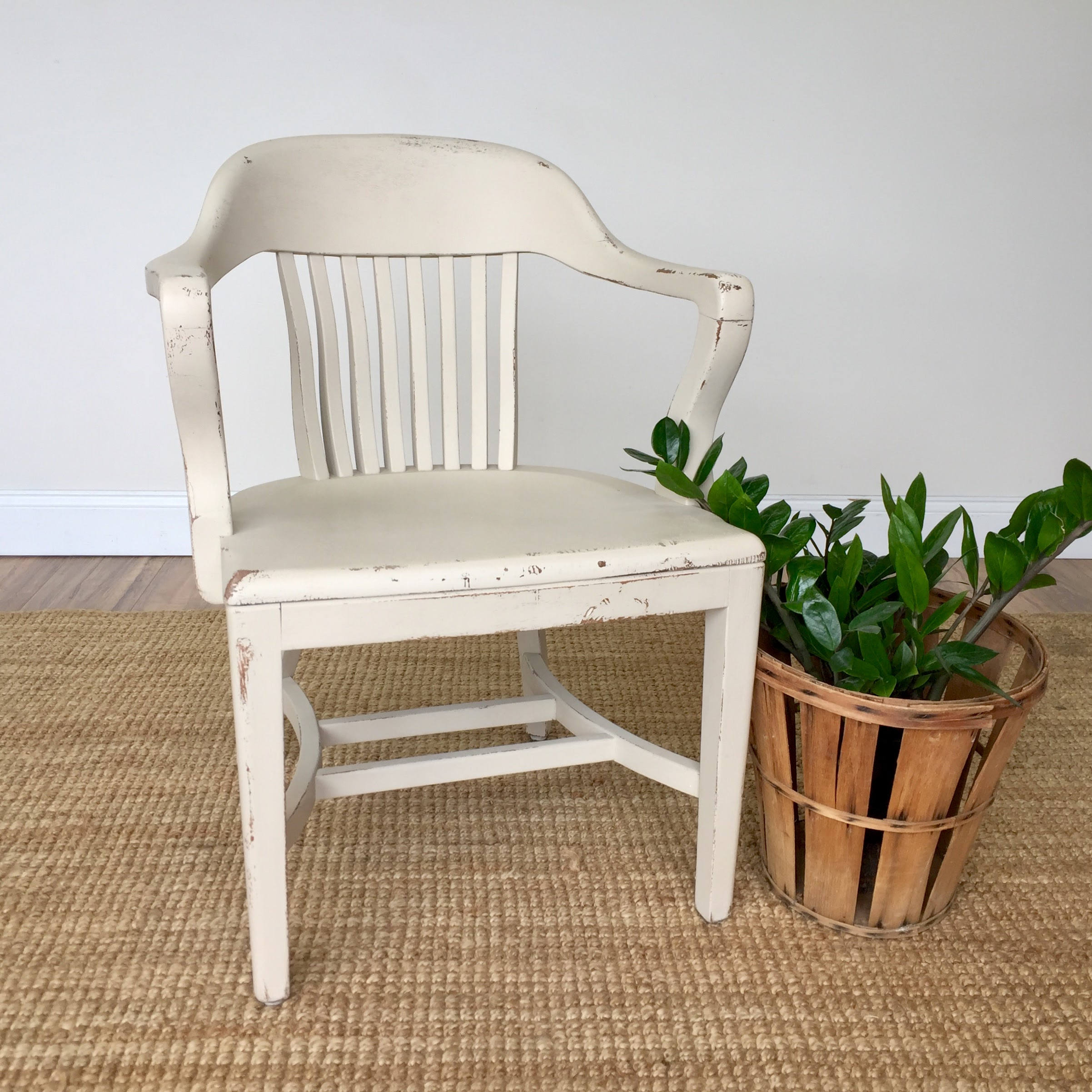 White Wooden Chair Vintage Furniture Library Chair Home