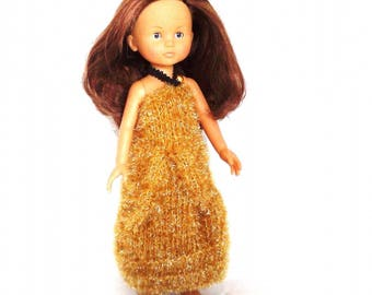 Golden Ball Gown for Les Chéries, for doll 33 cms