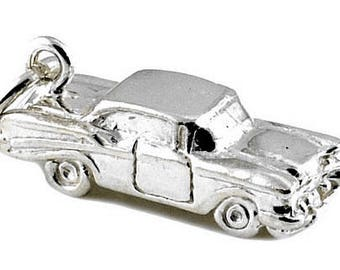 "Sterling Silver ""57"" Chevy Car Charm For Bracelets"