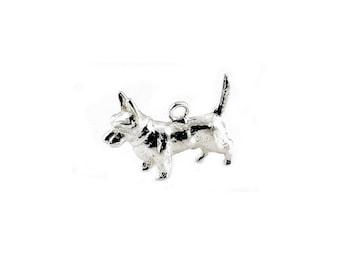 Sterling Silver Scotty Dog Charm For Bracelets