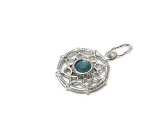 Sterling Silver Dreamcatcher Birthstone December Charm For Bracelets