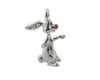 Sterling Silver Rabbit From Pooh Bear Charm For Bracelets