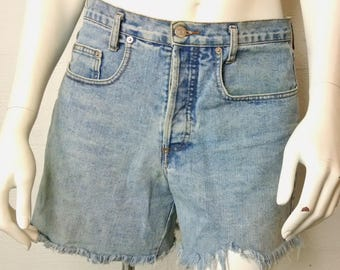 Vintage Ladies / Juniors Guess Cutoff Jean Shorts Made In The USA Size 3