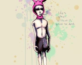 Gummo Rabbit Fine Art Print