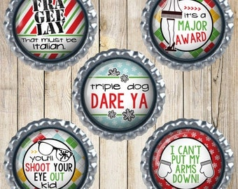 A Christmas story magnets - You'll shoot your eye out kid - I can't put my arms down - Triple dog dare ya - Christmas magnets - Magnet gifts