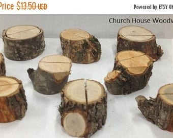 SALE 15 extra rustic place card holders, tree card holders, place holders, rustic wedding decor, wood place card holder, rustic wedding supp