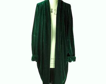 Baylis &Knight Green Velvet Opera coat