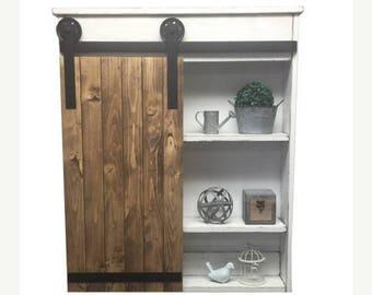 ON SALE Sliding Barn Door Cabinet-Sliding Barn Door-Rustic Barn Door Cabinet- Barn Door- Sliding Door - Industrial Door- Rustic Sliding Door
