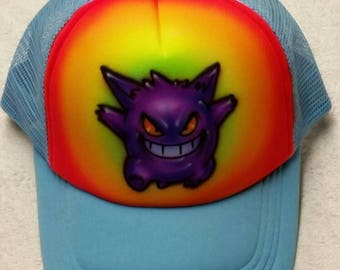 Custom airbrush snapback hats add a name