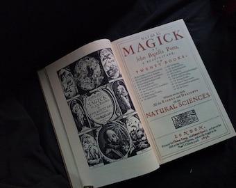 Natural Magick by Porta 1658 facsimile hardcover occult book