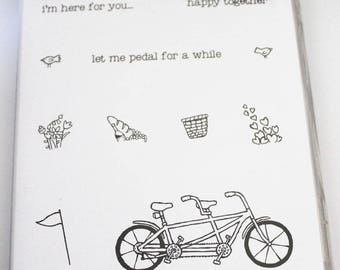 Pedal Pusher Acrylic Clear-Mount Rubber Stamp Set retired from Stampin Up