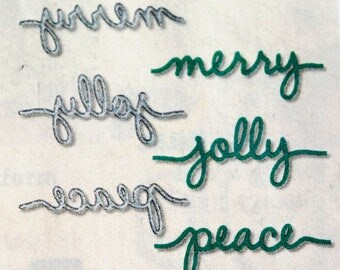 Christmas Greetings Thinlits Dies Retired from Stampin Up