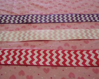 5 Yards 1.5 Inch Girly Chevron Grosgrain Ribbon